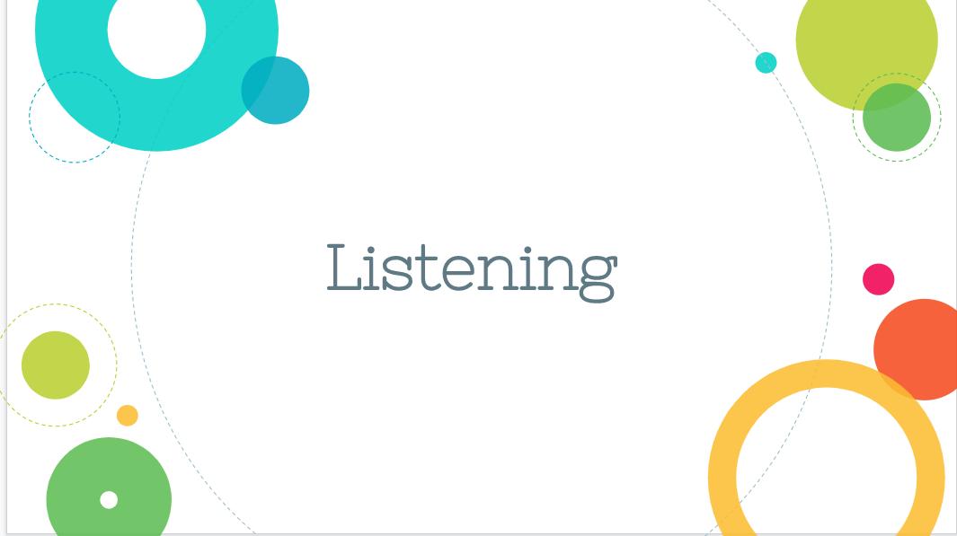 Listening PowerPoint Cover Slide