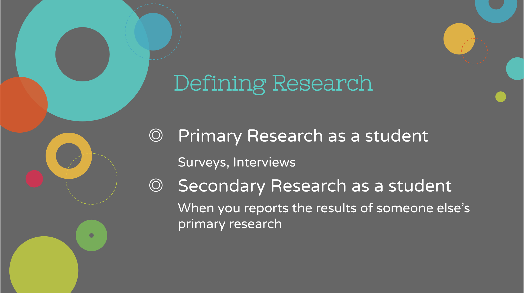 Sample Slide from Research PowerPoint