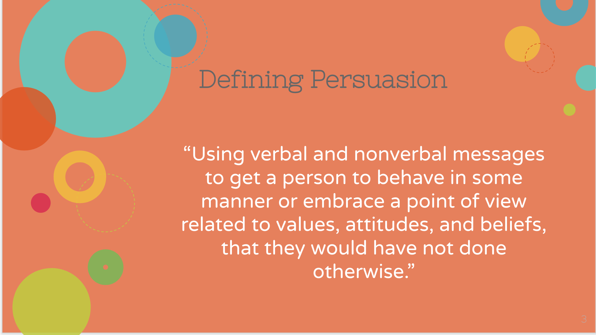 Sample Slide from Persuasive Speeches PowerPoint