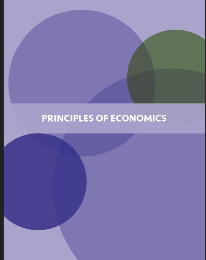 Principles of Economics University of Minnesota Book Cover