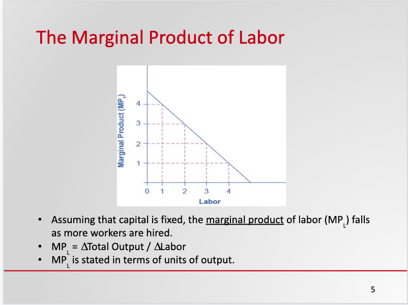 Markets for the Factors of Production Labor Sample Slide