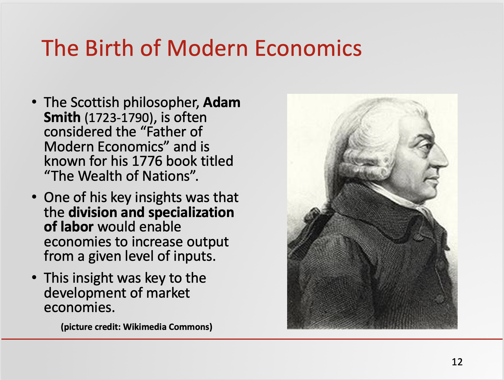 Introduction to the Economic Way of Thinking Sample Slide
