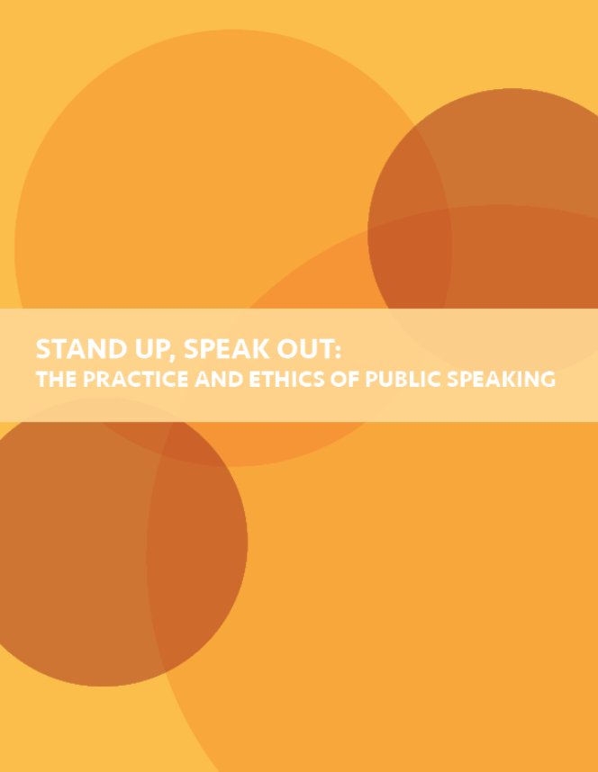 BOOK COVER: Stand Up, Speak Out: The Practice and Ethics of Public Speaking