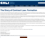 The Story of Contract Law: Formation