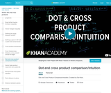 Linear Algebra: Dot and Cross Product Comparison/Intuition