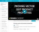 Linear Algebra: Proving Vector Dot Product Properties