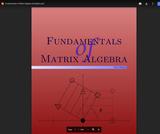 Fundamentals of Matrix Algebra