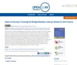 Steps to Success: Crossing the Bridge Between Literacy Research and Practice