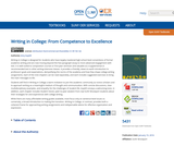Writing in College: From Competence to Excellence | Open SUNY Textbooks