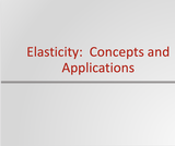 Principles of Microeconomics Course Content, Elasticity: Concepts and Applications, Elasticity: Concepts and Applications Resources