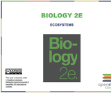 Biology II Course Content, Ecosystems, Ecosystems Resources