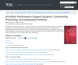 ePortfolio Performance Support Systems: Constructing, Presenting, and Assessing Portfolios