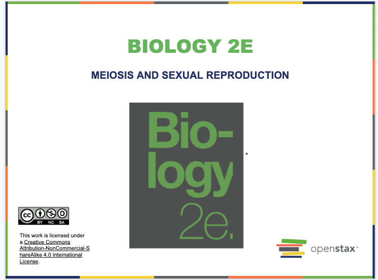 Meiosis and Sexual Reproduction Resources