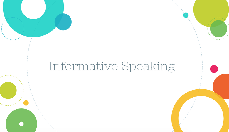 Informative Speaking Resources