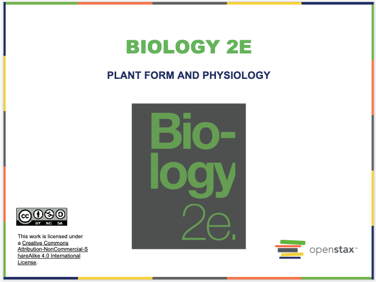 Plant Form and Physiology Resources