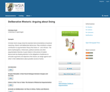 Deliberative Rhetoric: Arguing about Doing