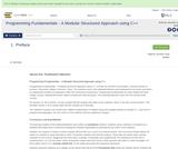 Programming Fundamentals - A Modular Structured Approach using C++