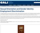 Sexual Orientation and Gender Identity Employment Discrimination