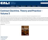 Contract Doctrine, Theory and Practice - Volume 3