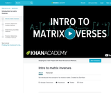 Intro to matrix inverses