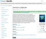 Teaching in a Digital Age: Guidelines for designing teaching and learning for a digital age