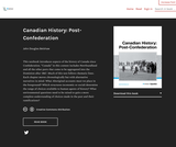 Canadian History: Post-Confederation