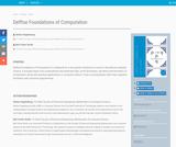 Delftse Foundations of Computation