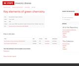 Key Elements of Green Chemistry