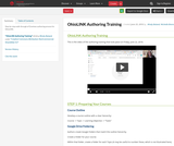OhioLINK Authoring Training