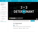 Linear Algebra: 3x3 Determinant