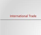 Principles of Microeconomics Course Content, International Trade, International Trade Resources