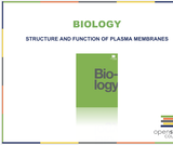Biology I Course Content, Structure and Function of Plasma Membranes, Structure and Function of Plasma Membranes Resources